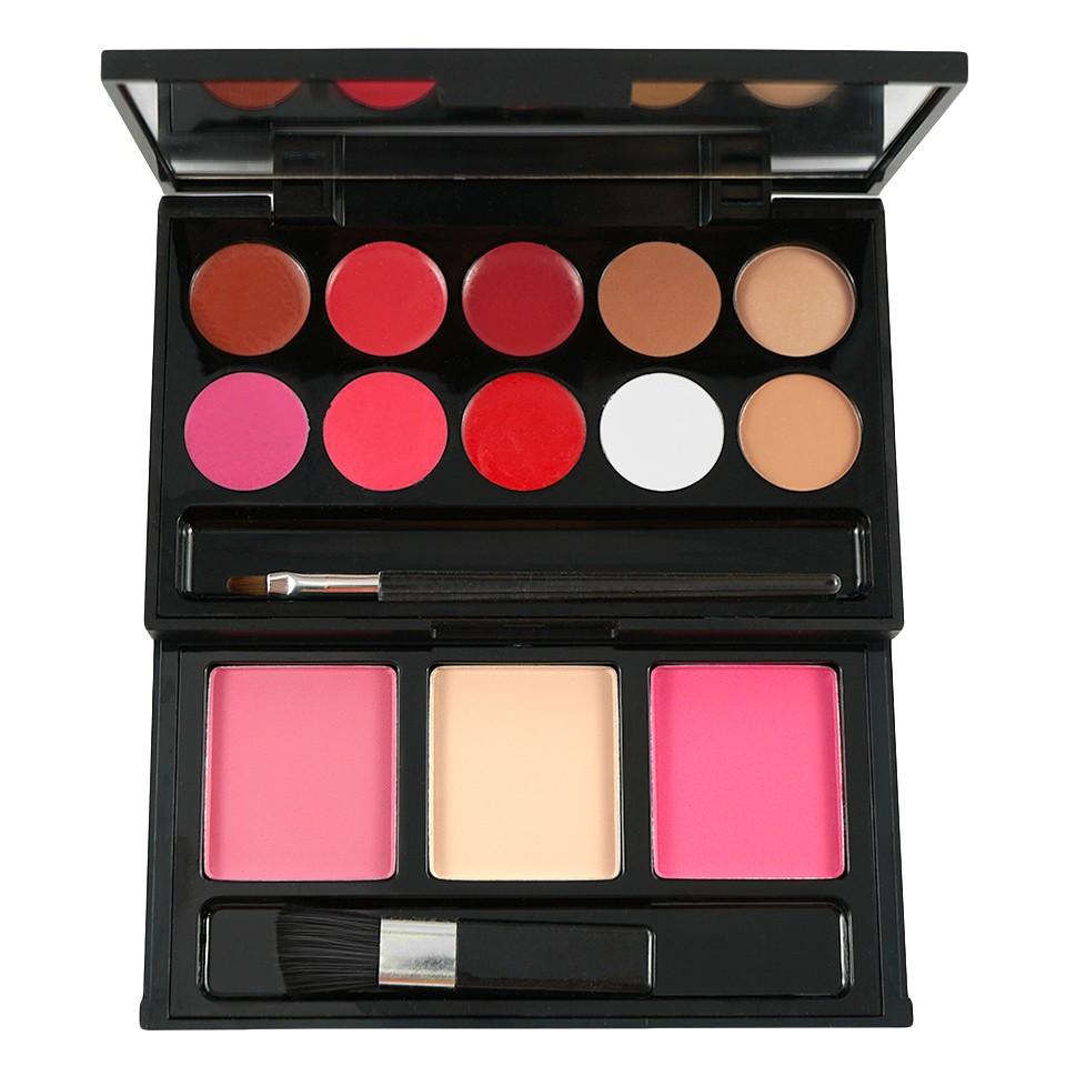Trusa Machiaj 10 culori cu ruj si 3 culori blush My Beauty Secret imagine