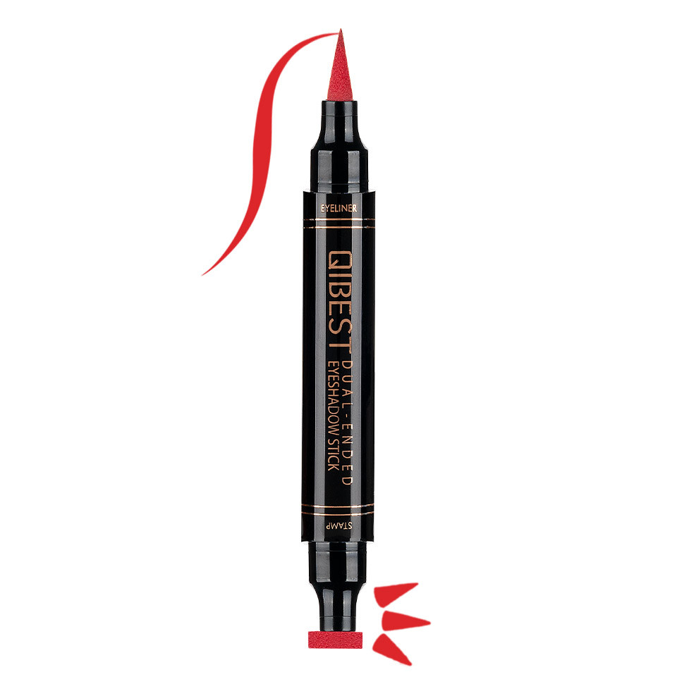 Eyeliner Colorat tip Carioca cu Stampila Ochi, Qibest Mirage Red #05
