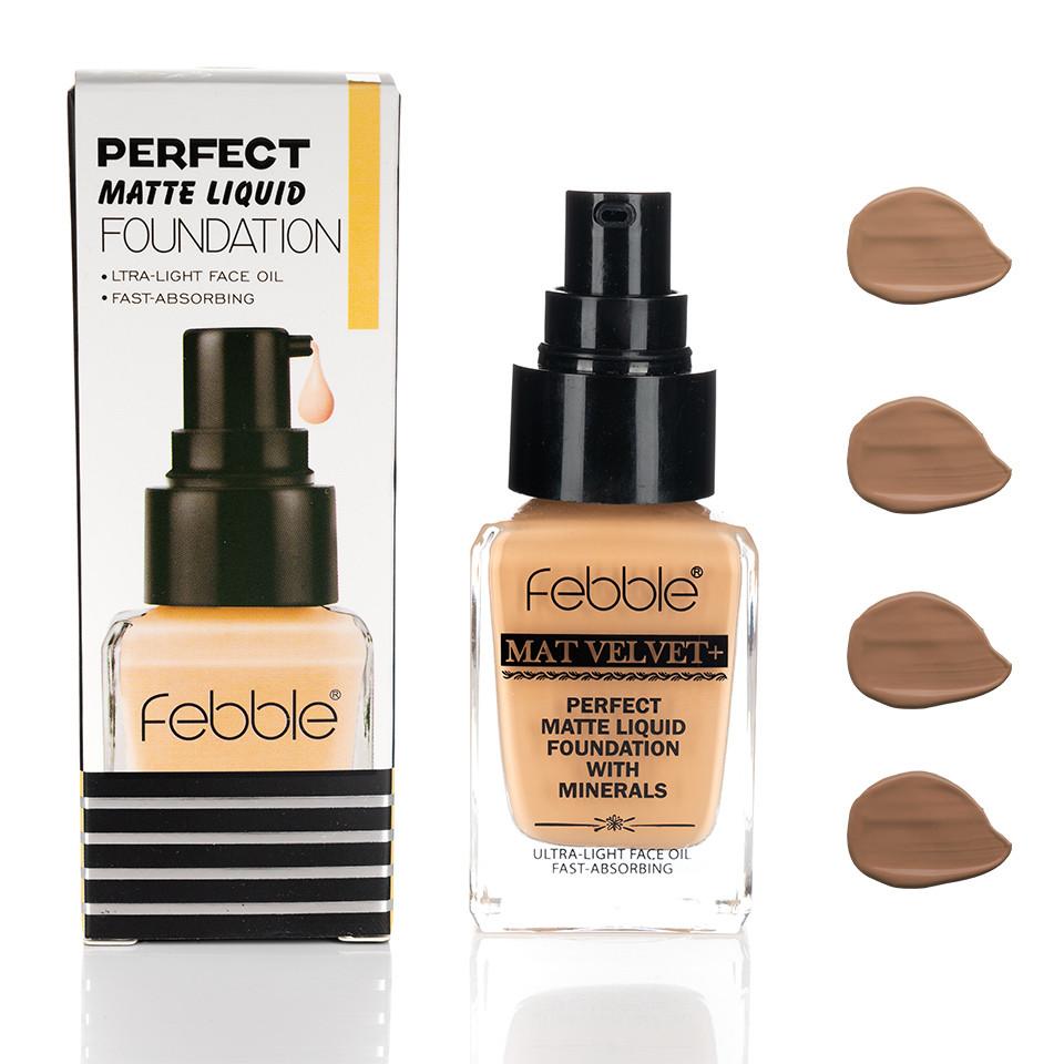 Fond de Ten Febble Perfect Matte Liquid Foundation, 4 nuante imagine produs