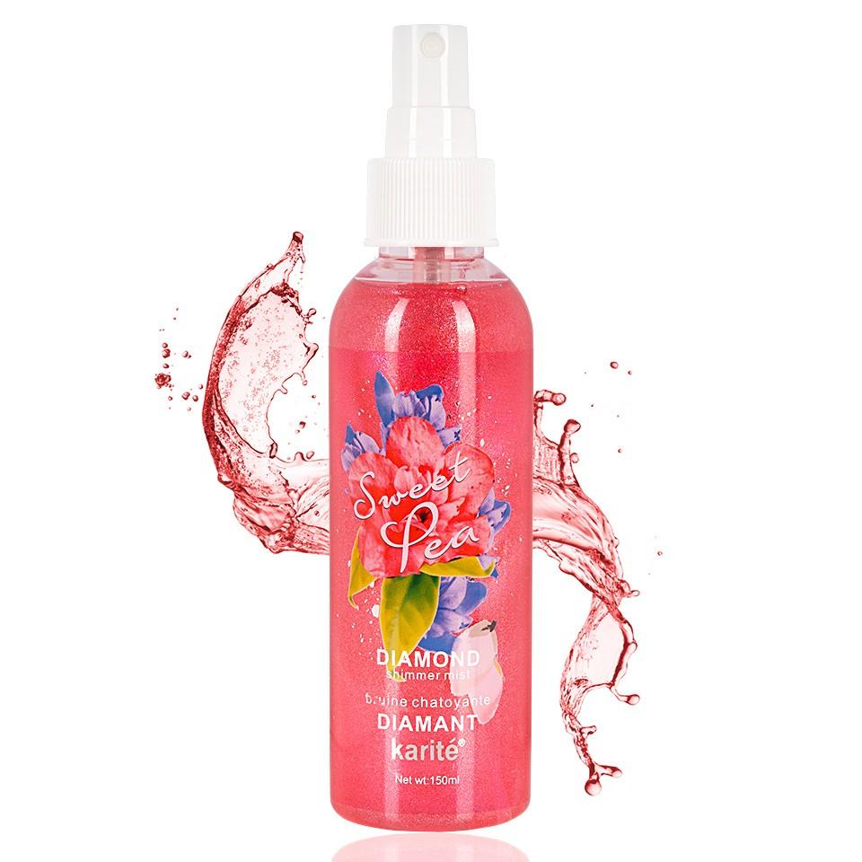 Spray Fixare Machiaj Karite Glitter Sweet Pea imagine