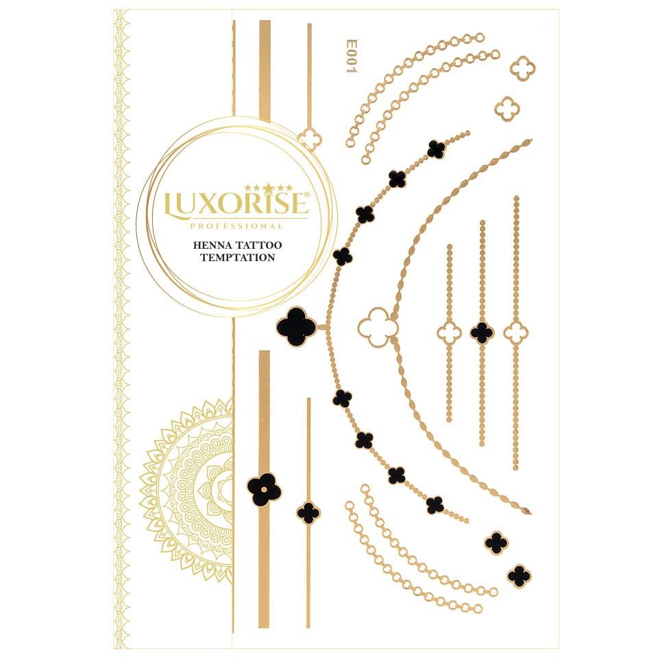Tatuaj Temporar LUXORISE Henna Temptation Gold Edition E001 pensulemachiaj.ro