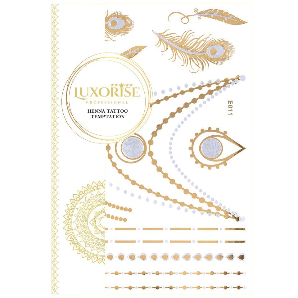 Tatuaj Temporar LUXORISE Henna Temptation Gold Edition E011 pensulemachiaj.ro