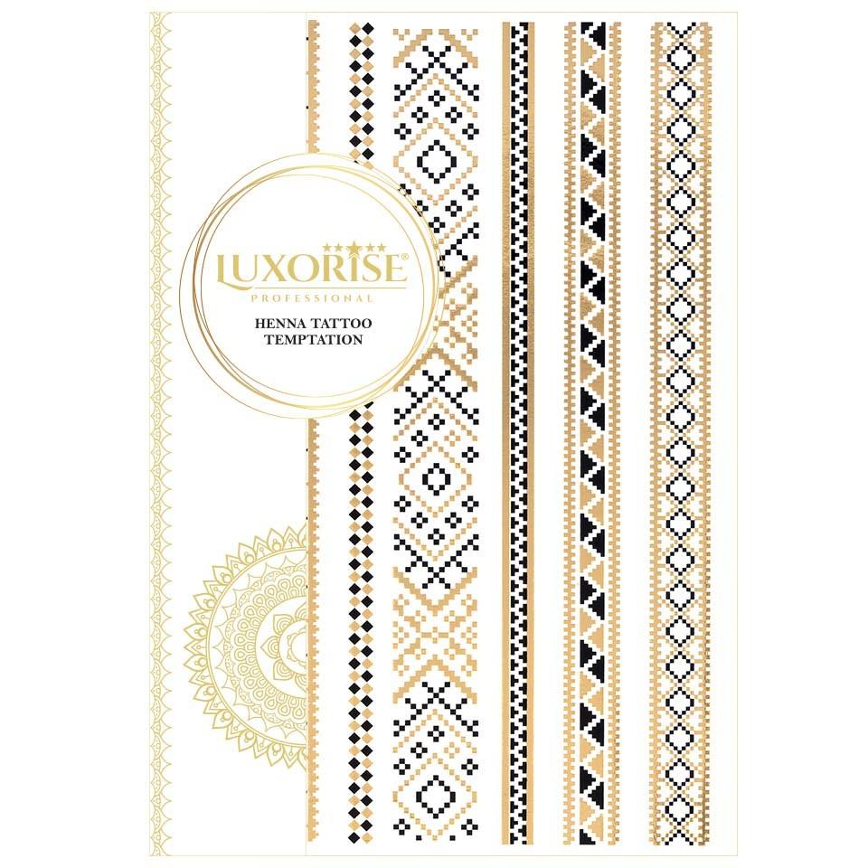 Tatuaj Temporar LUXORISE Henna Temptation Gold Edition E016 pensulemachiaj.ro