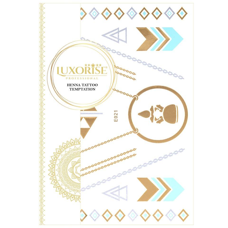Tatuaj Temporar LUXORISE Henna Temptation Gold Edition E021 pensulemachiaj.ro