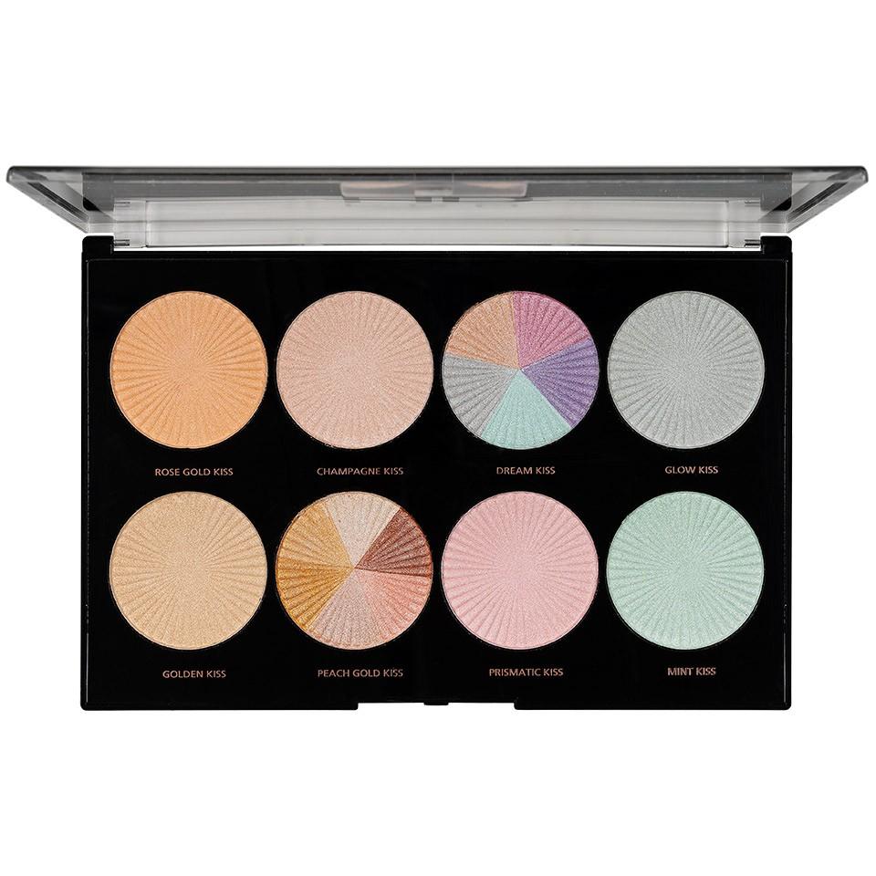 Trusa Machiaj MakeUp Revolution HD Highlighter Palette Glow Getter imagine