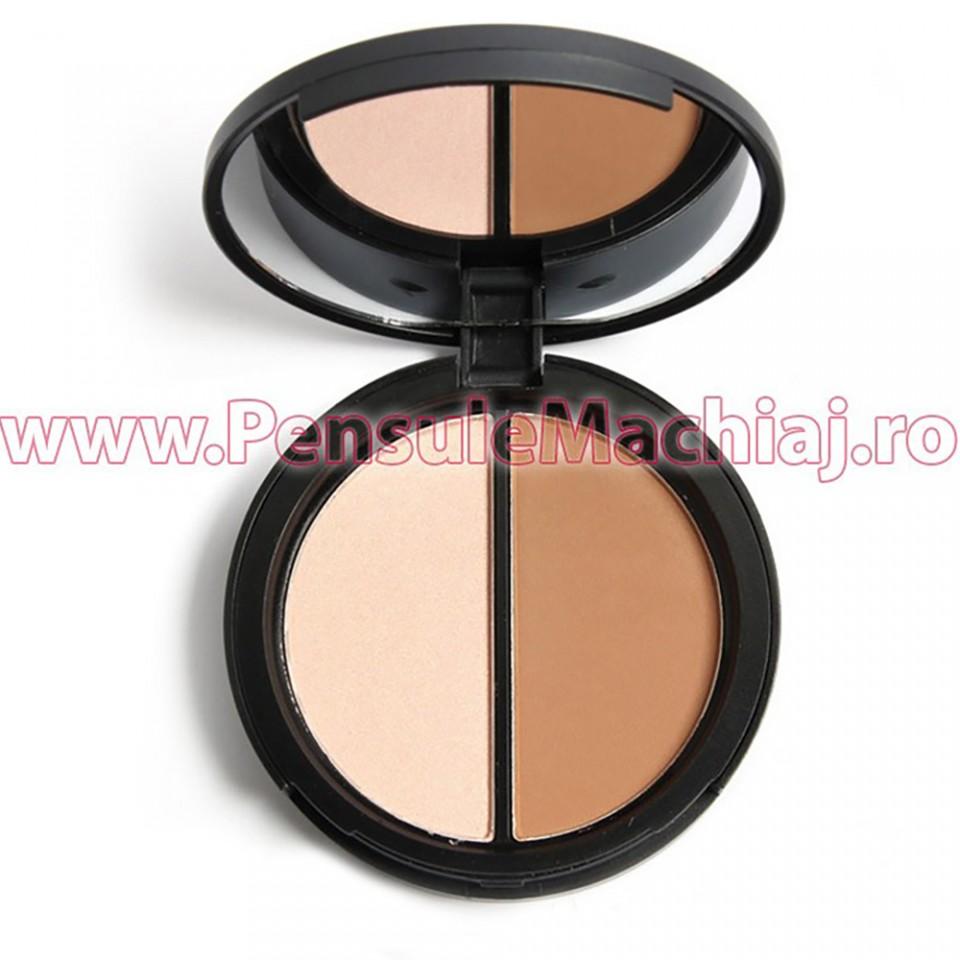 Trusa Pudra Contur & Iluminator Pretty Face My Boon #02, Premium Edition