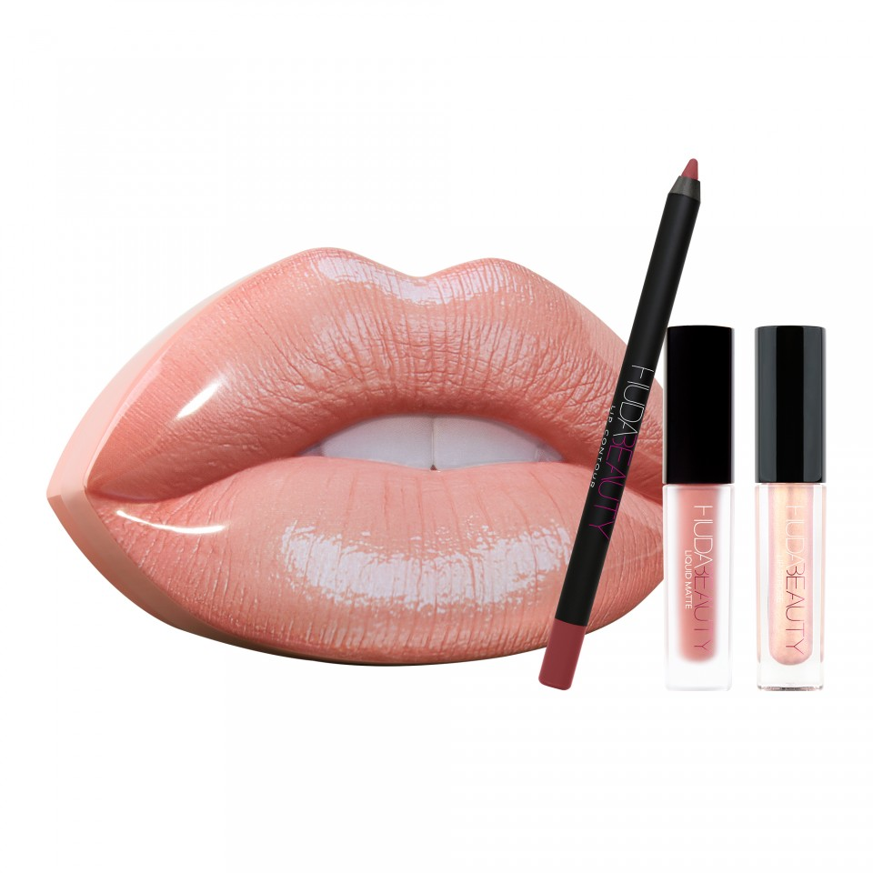 Set Ruj, Creion Buze, Lip Gloss Strobe Bombshell & Ritzy