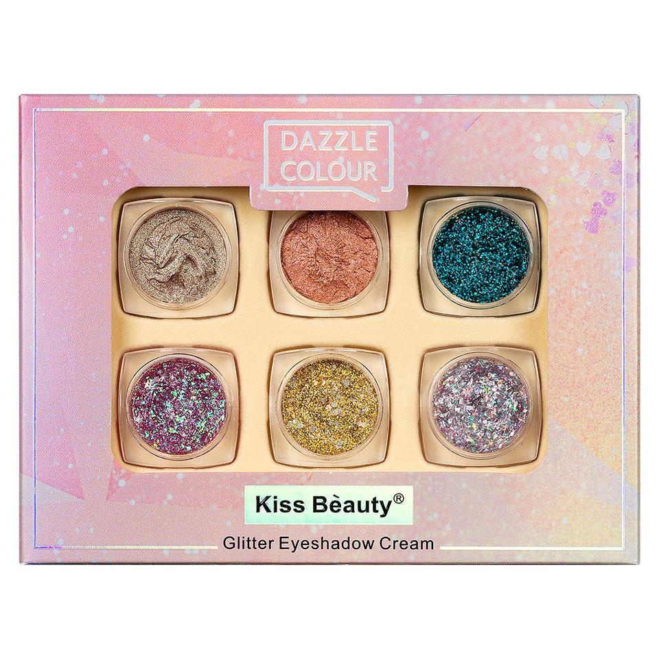 Fard de Pleoape Cremos Kiss Beauty Dazzle Colour, set 6 buc imagine produs