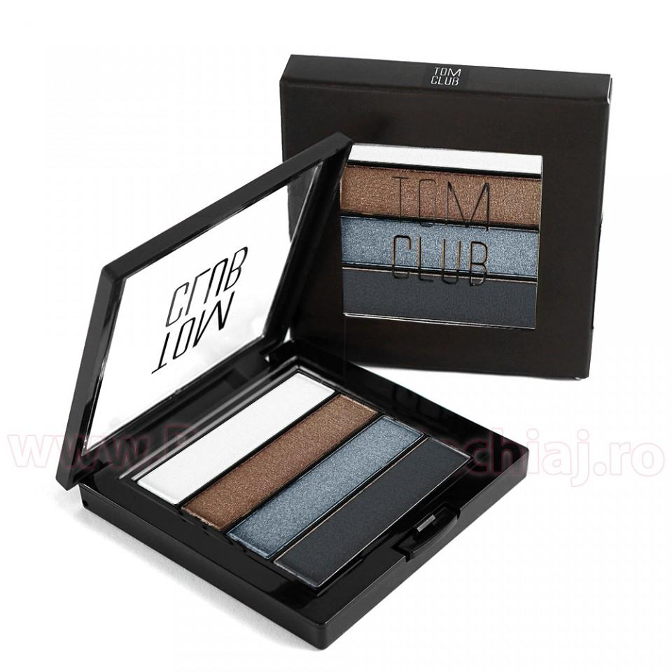 Fard de Pleoape in 4 culori sidefate #01 TOM CLUB - Silver imagine produs