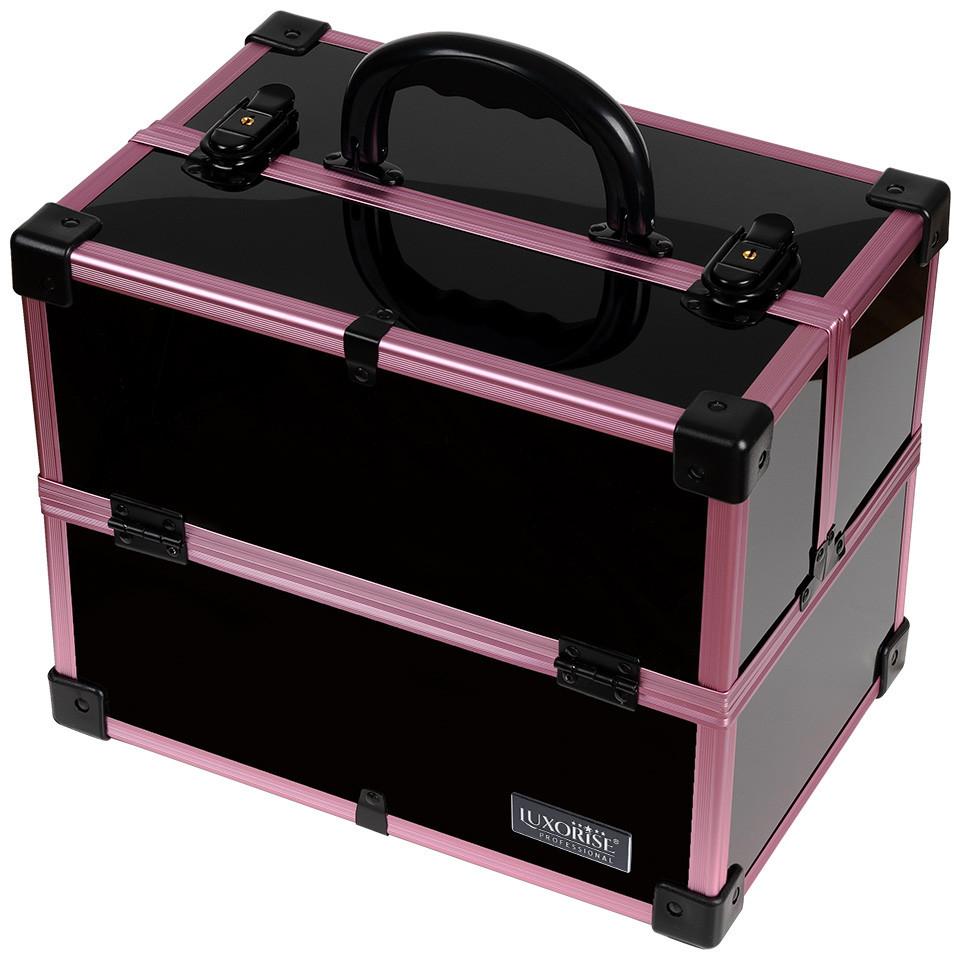 Geanta Makeup din Aluminiu, Black Case Violet - LUXORISE imagine