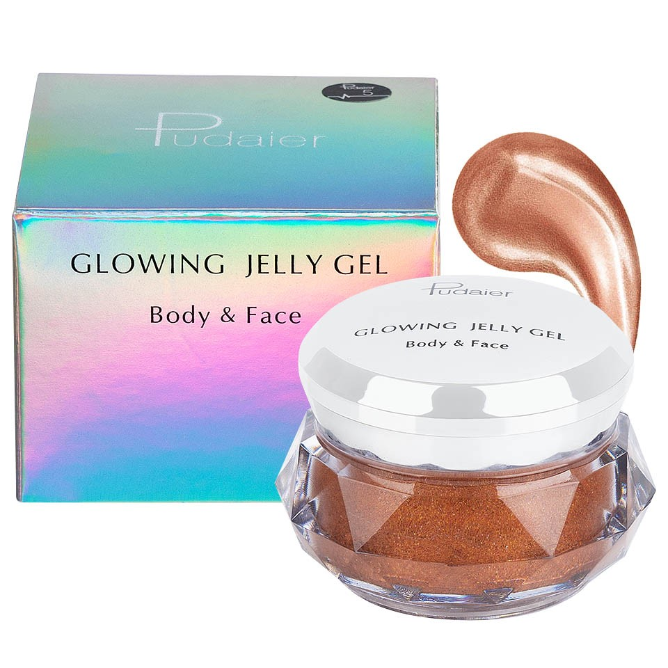 Iluminator crema pentru fata si corp Pudaier Glowing Jelly #05 pensulemachiaj.ro