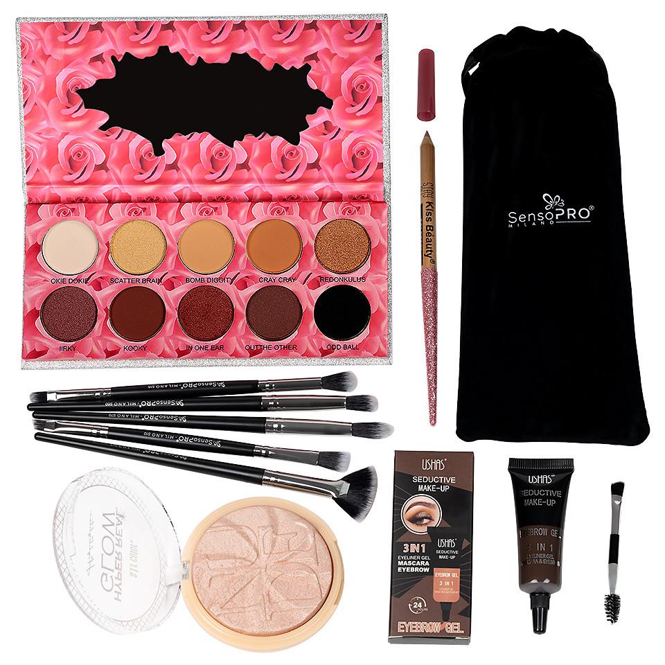 Set Machiaj Beauty Essentials + CADOURI pensulemachiaj.ro