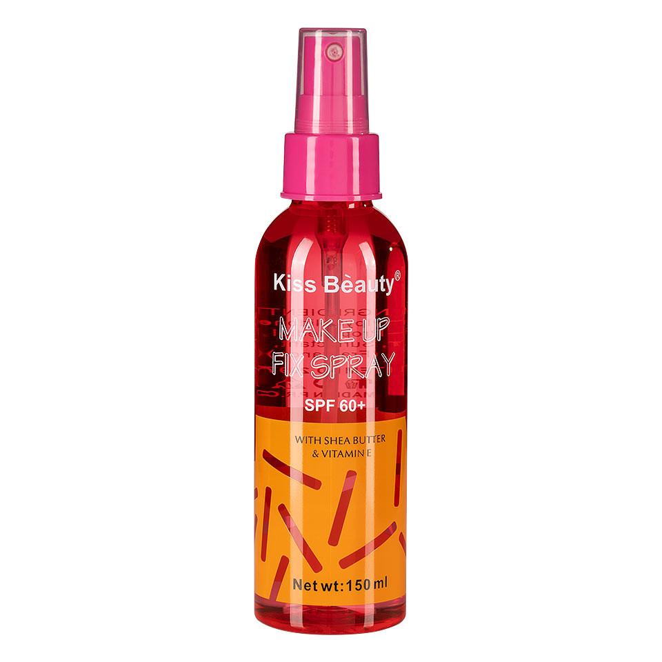 Spray Fixare Machiaj Kiss Beauty cu Extract de Unt Shea SPF 60, 150ml pensulemachiaj.ro