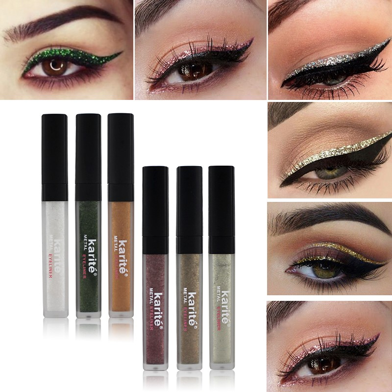 Eyeliner Colorat Rezistent la Transfer Brilliant - Set 6 bucati