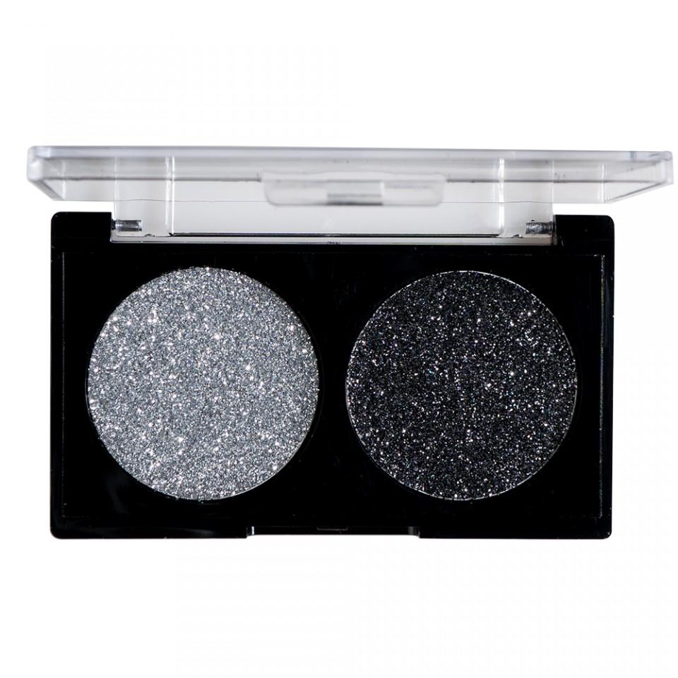 Glitter Ochi Pulbere Silver & Black imagine