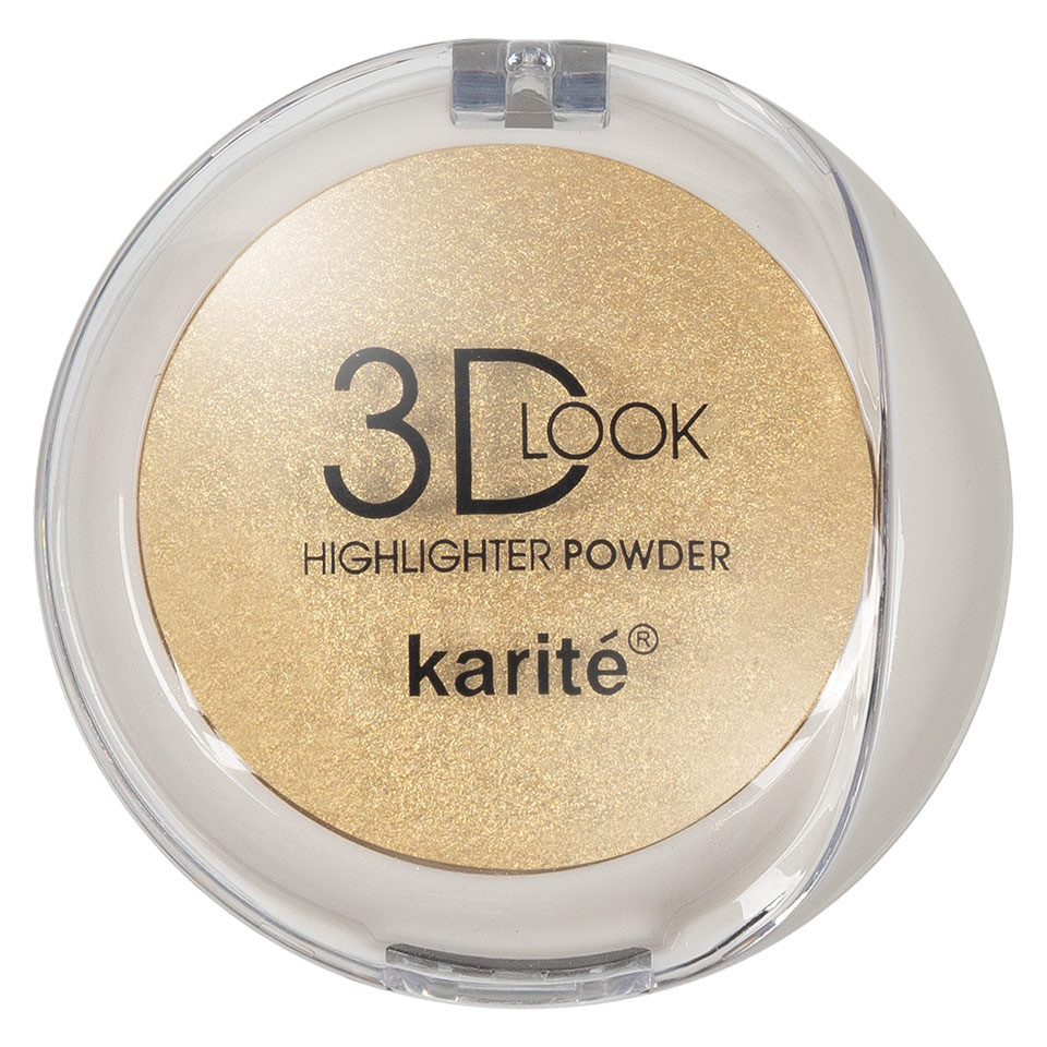 Pudra Iluminatoare cu aplicator Karite 3D Look Oil Control #02 pensulemachiaj.ro