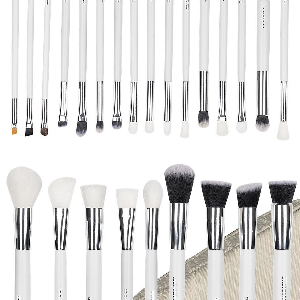 Set 25 pensule machiaj Exclusive Glam White + Borseta Cadou imagine