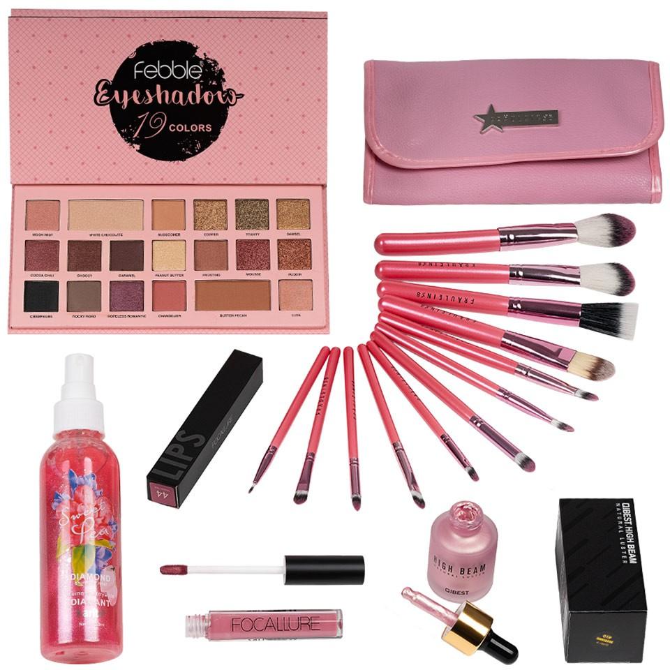 Set Machiaj Babydoll Pink + CADOURI imagine