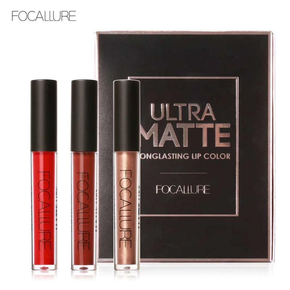 Set Rujuri Metalice Lichide Mate Ultra Matte Red Focallure imagine produs