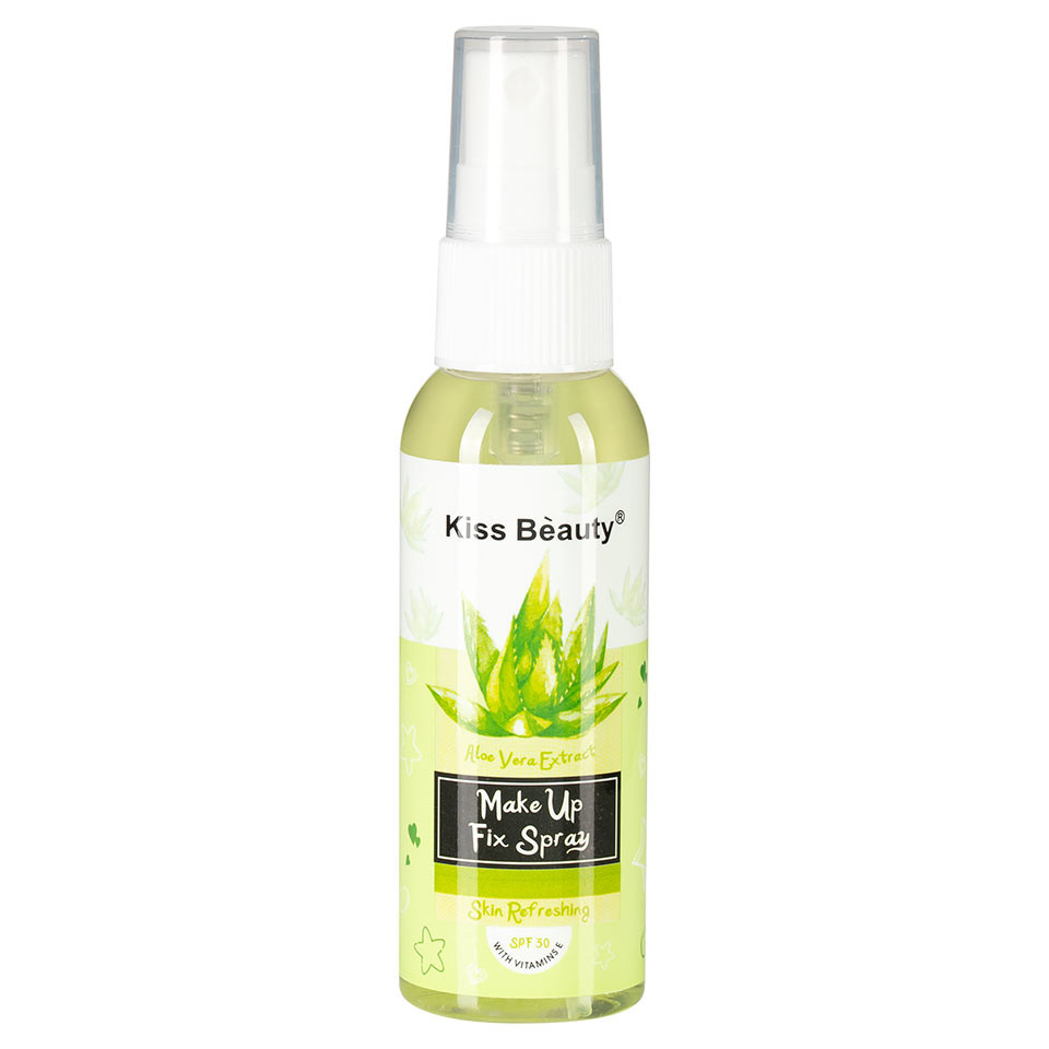 Spray Fixare Machiaj cu Aloe Vera Kiss Beauty SPF 30, 60ml pensulemachiaj.ro