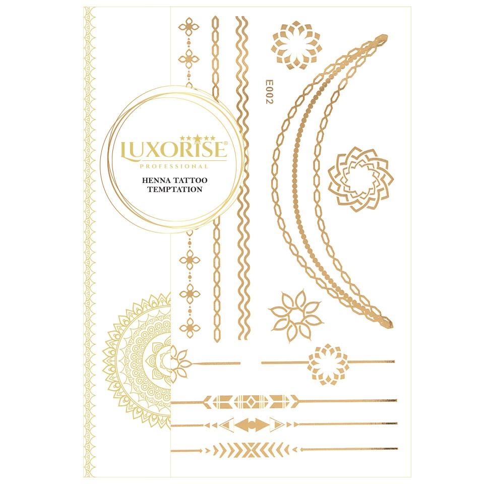 Tatuaj Temporar LUXORISE Henna Temptation Gold Edition E002 pensulemachiaj.ro