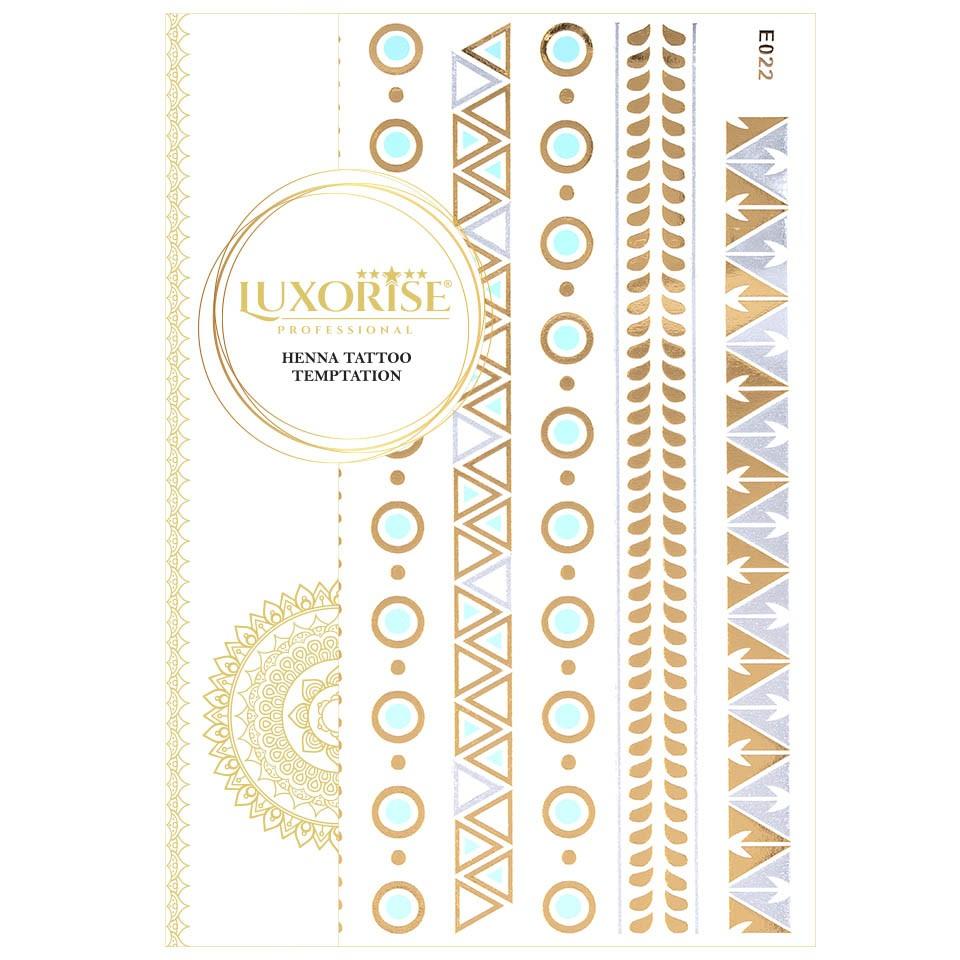 Tatuaj Temporar LUXORISE Henna Temptation Gold Edition E022 pensulemachiaj.ro