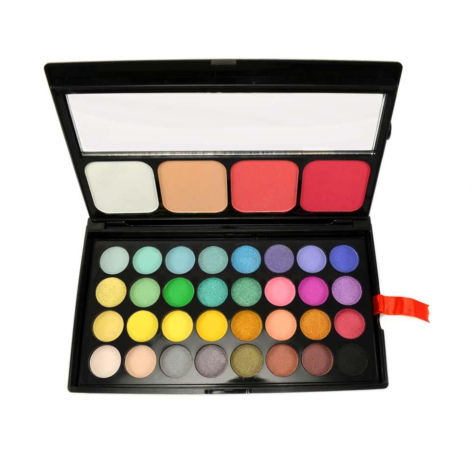 Trusa Farduri 36 culori cu blush si pudra Fraulein38 Miss Sunshine imagine produs