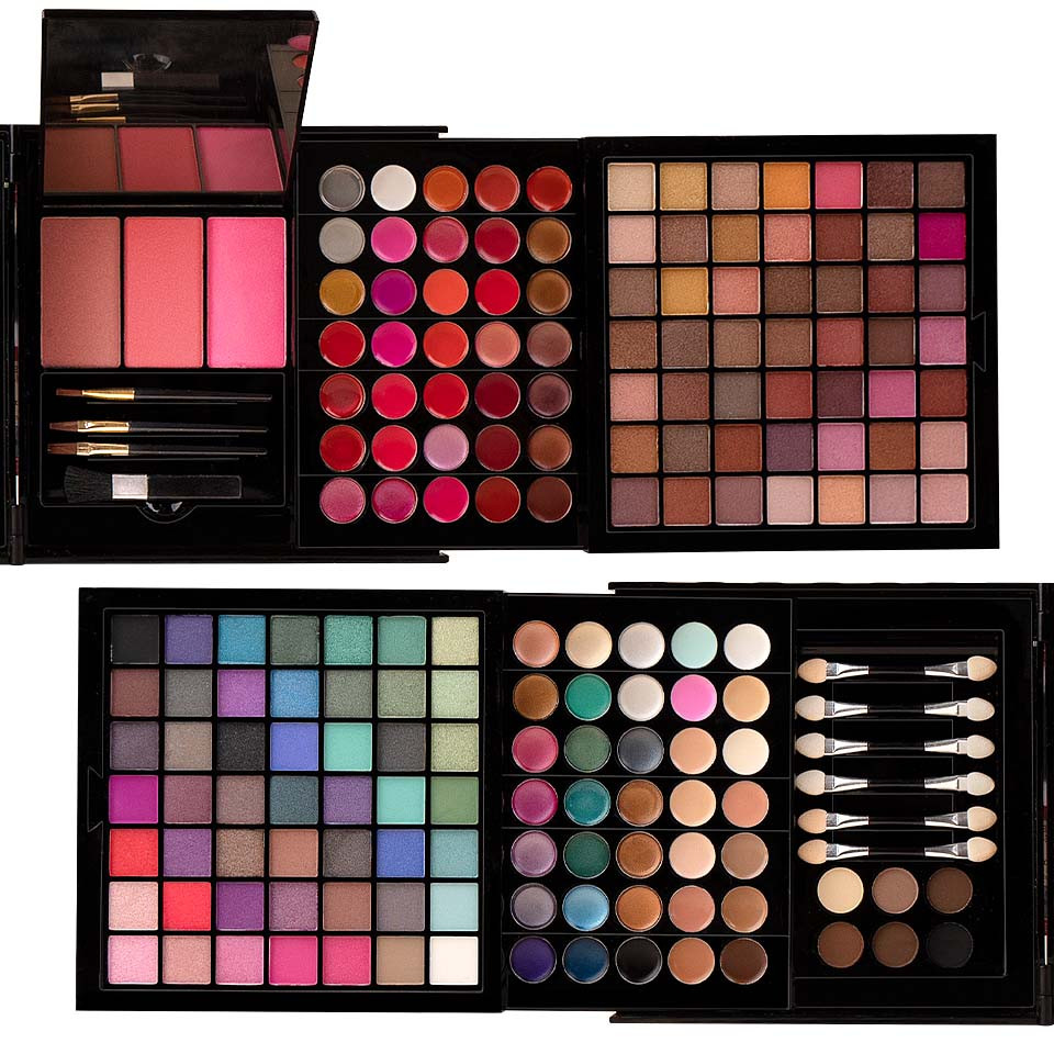 Trusa Machiaj Multifunctionala 177 culori Mix & Go + CADOU Set 15 pensule SensoPRO Milano imagine