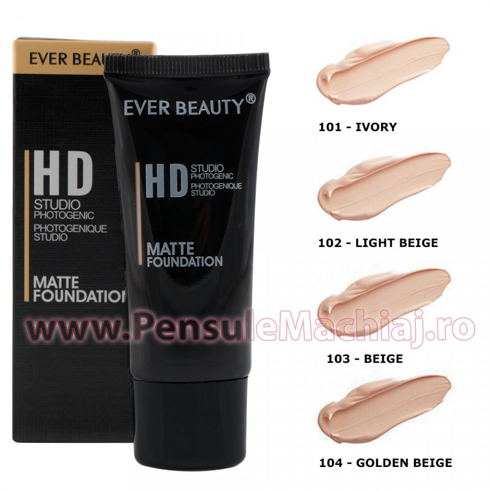 Fond de ten HD Studio Photogenic Matte Foundation