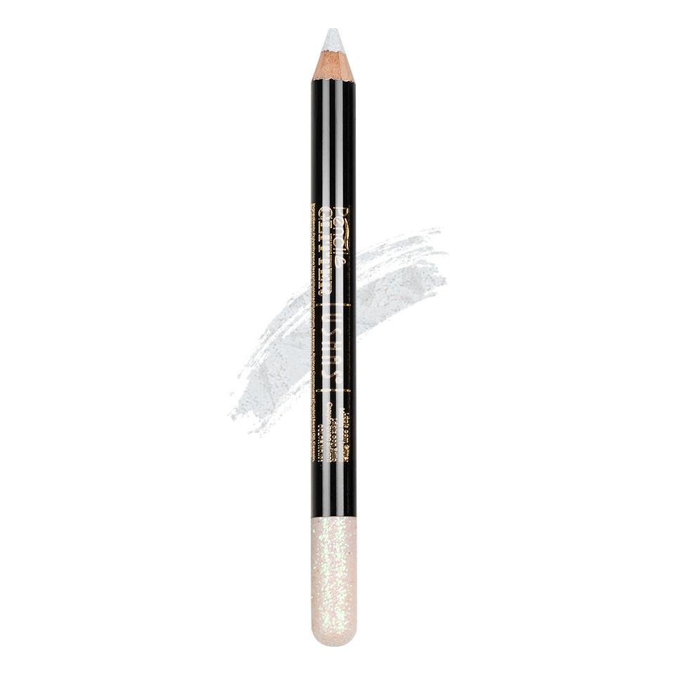 Creion Colorat Contur Ochi cu Sclipici, Ushas Glittery White #02 imagine
