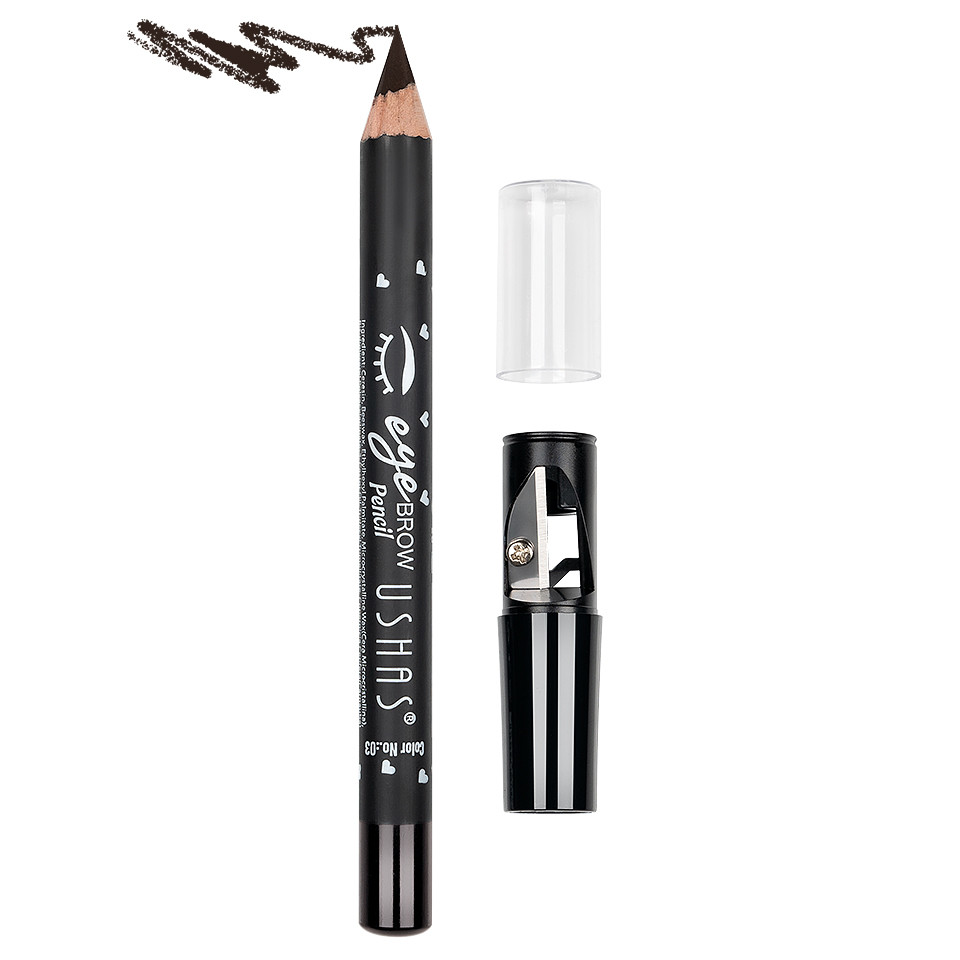 Creion Pentru Sprancene cu ascutitoare Ushas #03