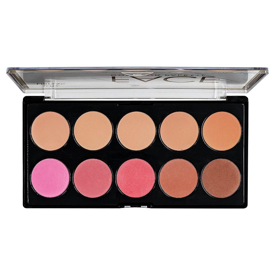 Trusa Blush & Pudra fata 10 culori - Face Contour Palette imagine
