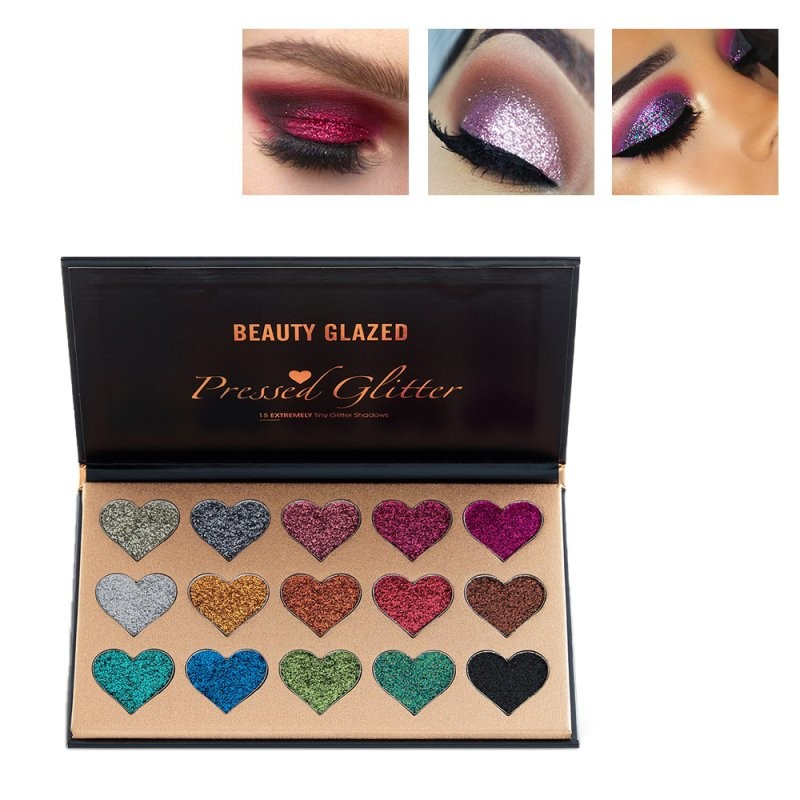 Trusa Glitter Ochi Beauty Glazed Shiny Hearts