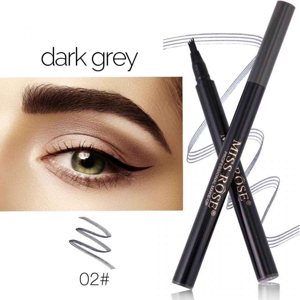 Creion Sprancene Cu Efect De Microblading #02 Dark Grey