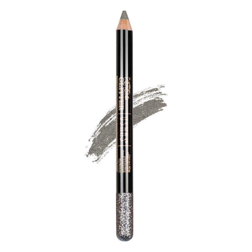 Creion Colorat Contur Ochi cu Sclipici, Ushas Glittery Silver #09 imagine