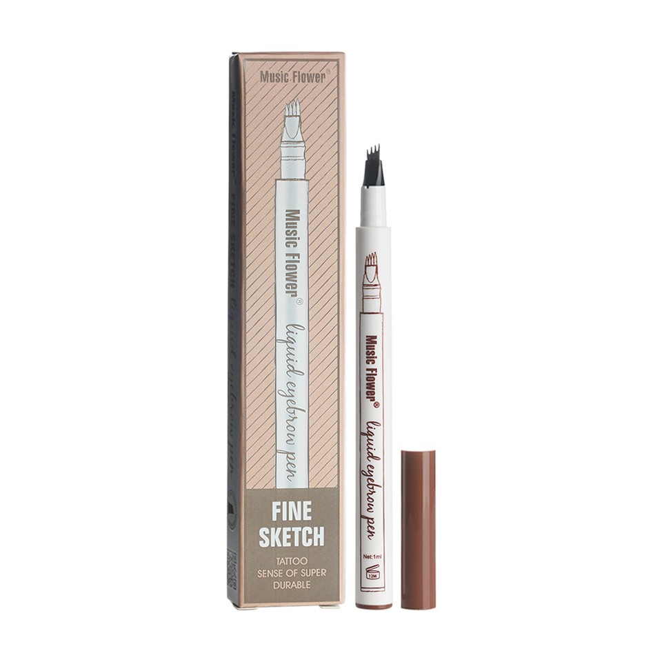 Creion sprancene cu efect de Microblading Music Flower #02 Brown pensulemachiaj.ro