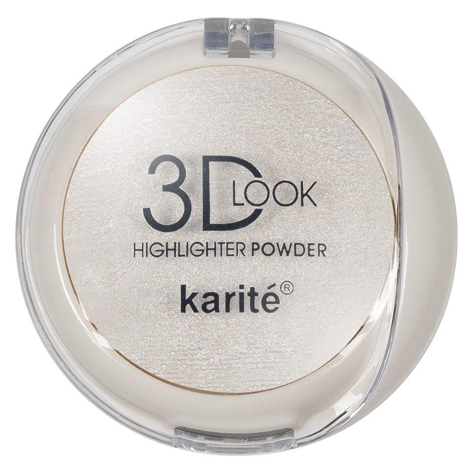 Pudra Iluminatoare cu aplicator Karite 3D Look Oil Control #03 pensulemachiaj.ro