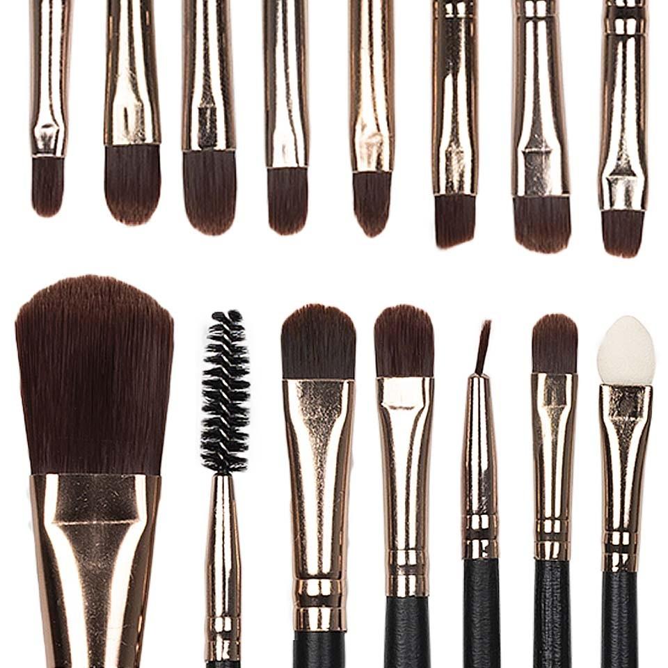 Set 15 pensule profesionale machiaj Daily Beauty
