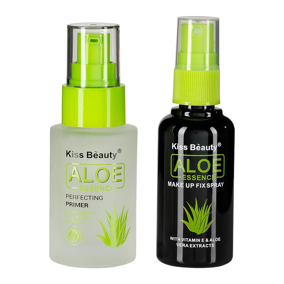 Set 2 in 1 Primer Machiaj + Spray Fixare Machiaj Aloe Essence pensulemachiaj.ro