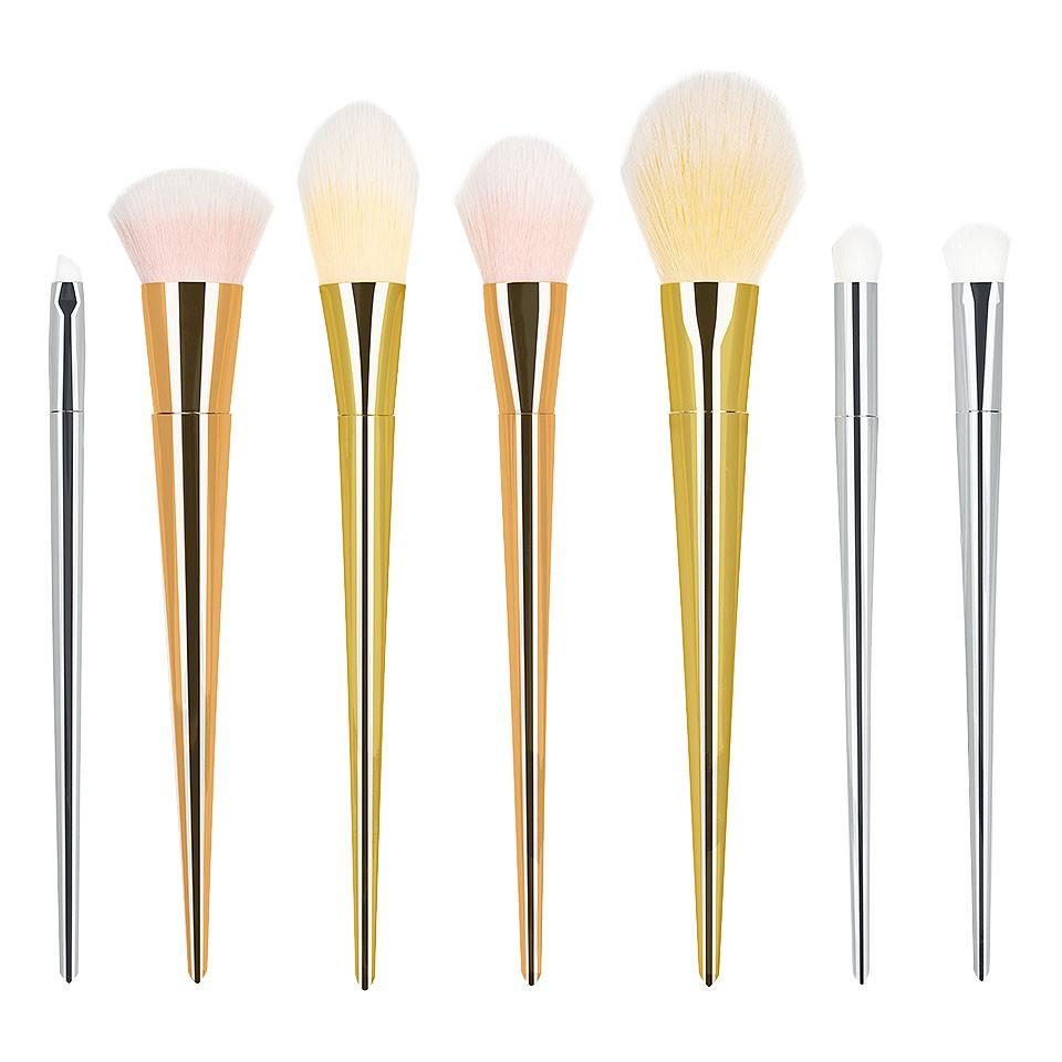Set 7 pensule machiaj profesionale Bold Metals Collection