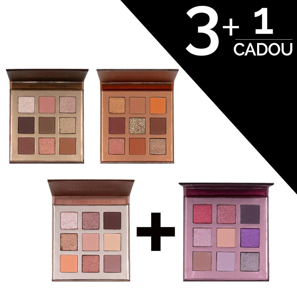 Set Truse Farduri Beauty Glazed Chocolate 3 + 1 CADOU pensulemachiaj.ro
