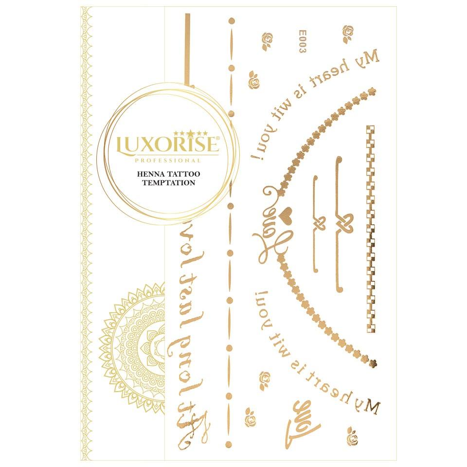 Tatuaj Temporar LUXORISE Henna Temptation Gold Edition E003 pensulemachiaj.ro