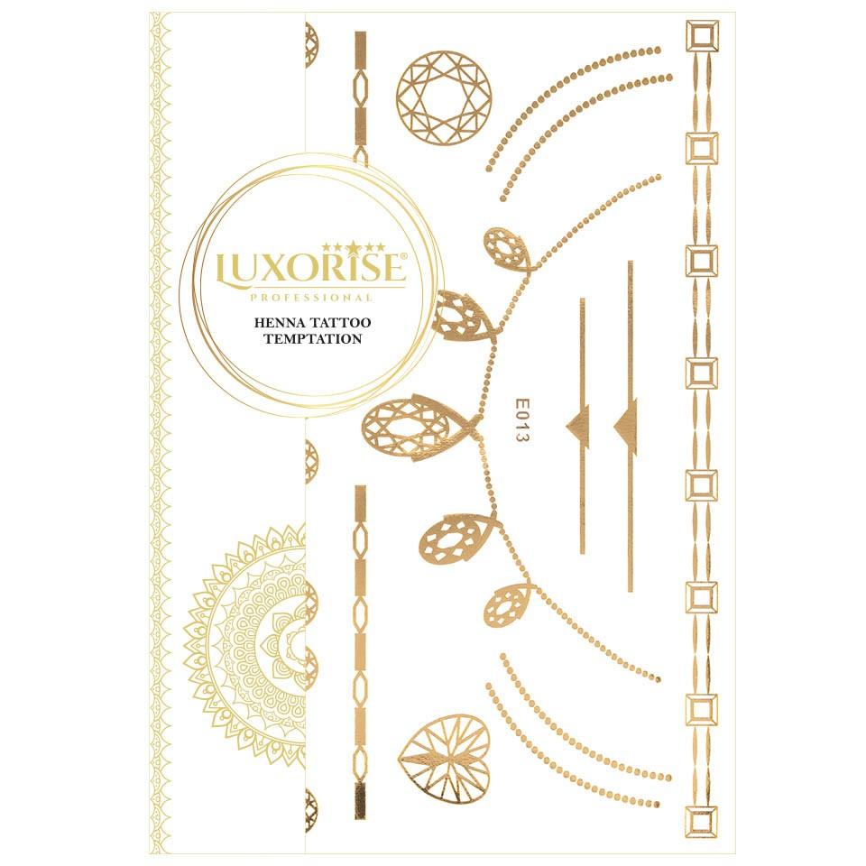 Tatuaj Temporar LUXORISE Henna Temptation Gold Edition E013 pensulemachiaj.ro