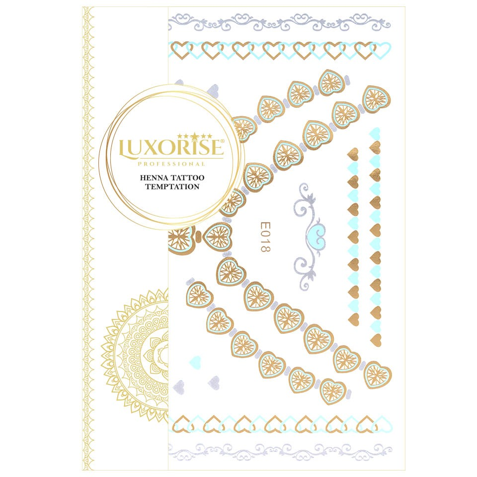 Tatuaj Temporar LUXORISE Henna Temptation Gold Edition E018 pensulemachiaj.ro