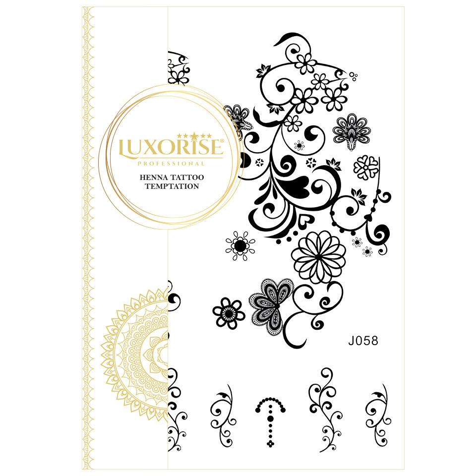Tatuaj Temporar LUXORISE Henna Temptation Gold Edition J058 pensulemachiaj.ro