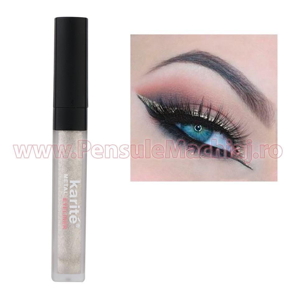 Eyeliner Colorat Rezistent la Transfer Metallic Silver 06