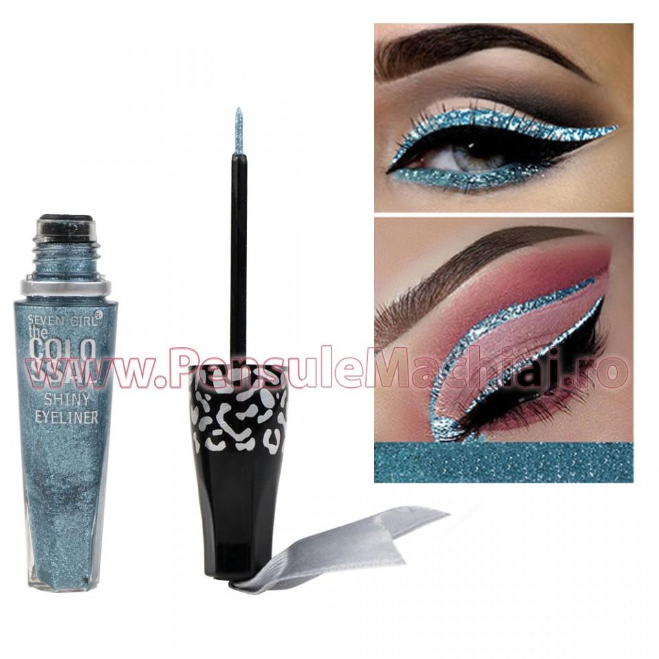 Eyeliner Colorat Rezistent la Transfer Blue Waves 8 ml - 11