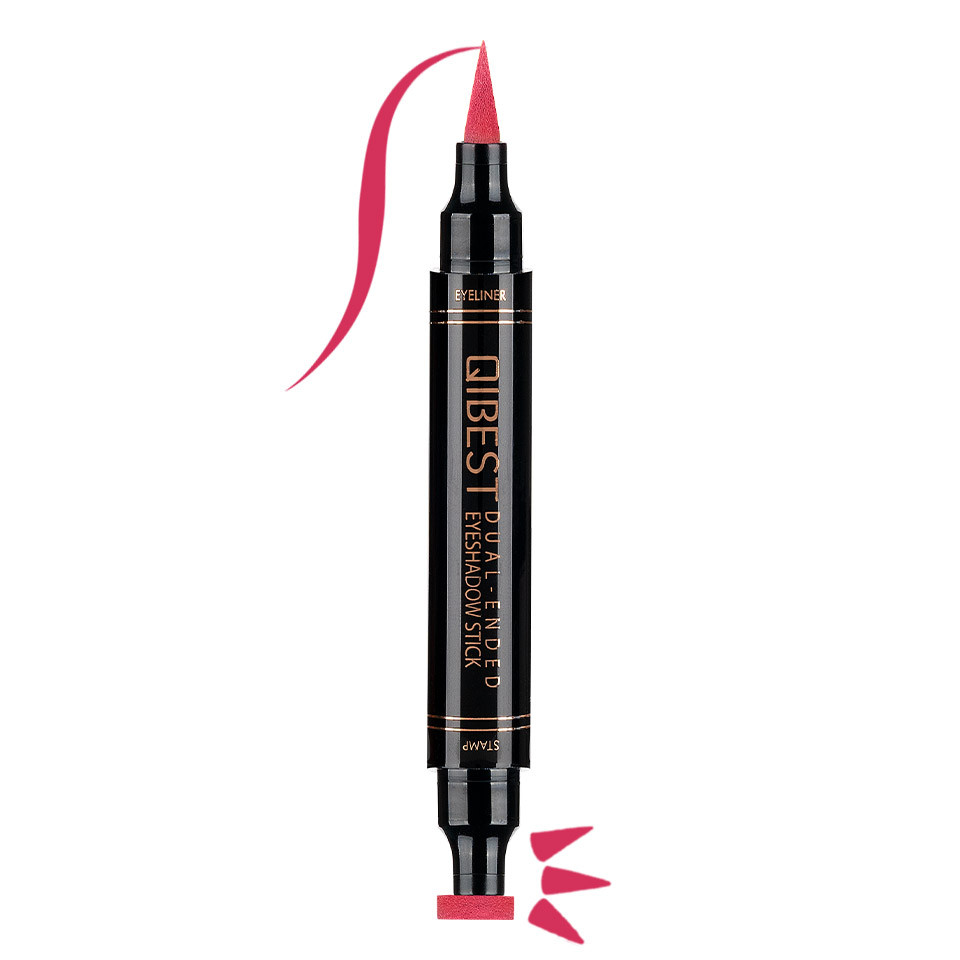 Eyeliner Colorat tip Carioca cu Stampila Ochi, Qibest Mirage Fuchsia #11 poza
