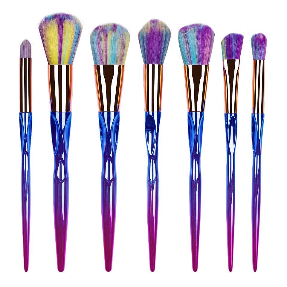 Set 7 pensule machiaj Mystic Unicorn Brushes Limited Edition imagine