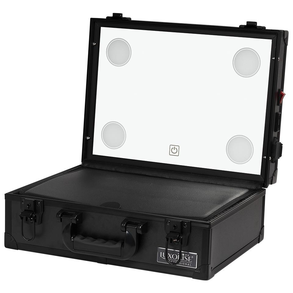 Statie Makeup Portabila Profesionala Mini cu Lumini, Raven Black - LUXORISE imagine produs